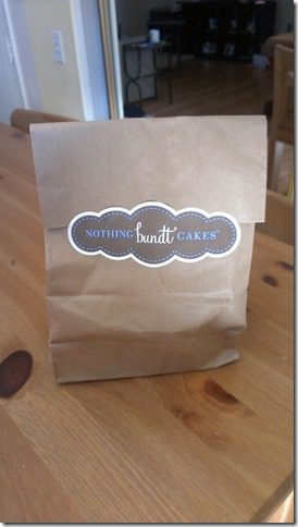 nothing bundt cake bag