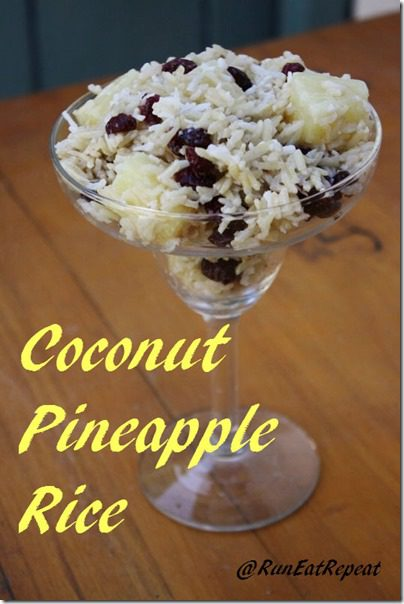 coconut pineapple rice recipe thumb Coconut Rice with Pineapple and Cranberries Recipe and a GIVEAWAY