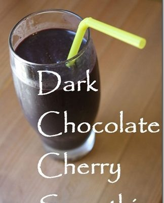 Dark Chocolate Cherry Smoothie Recipe