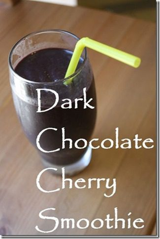 dark chocolate cherry smoothie thumb thumb June Favorites and July Goals