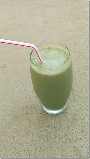 green smoothie drink 450x800 thumb No Running, Just Eating
