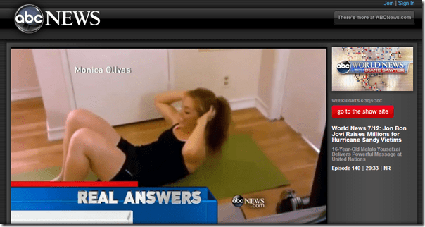 ABC world news 7 minute workout