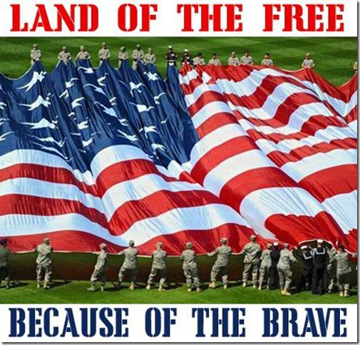 land of the free because of hte brave
