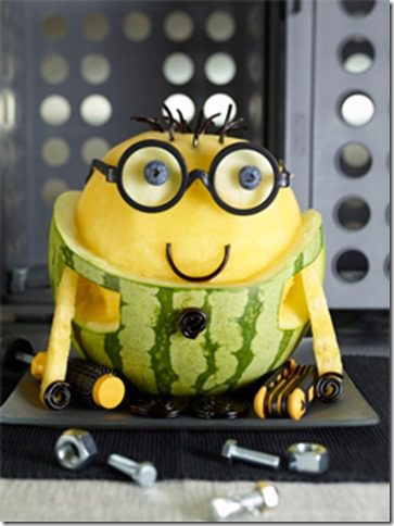 minion watermelon carving