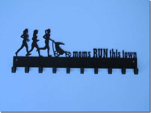 moms run race medal hanger