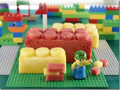 watermelon lego carving thumb Watermelon Carving and Running and Eating