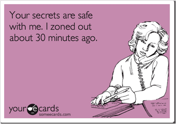 you secret is safe with me