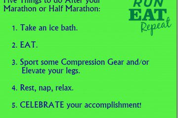 Five Things to Do After your Half Marathon or Marathon