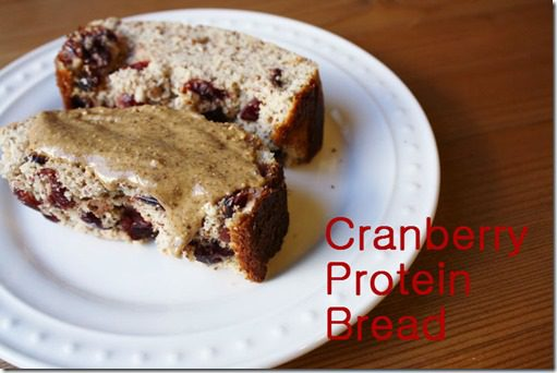 cranberry protein bread recipe 1