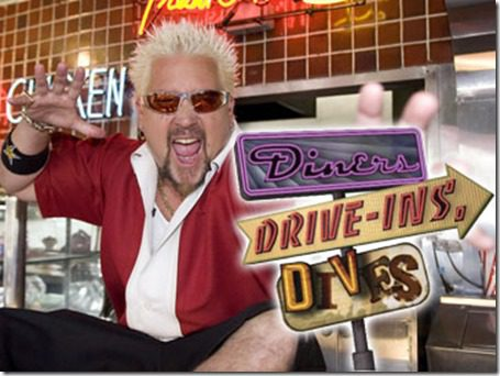 "Diners, Drive-ins and Dives<br /><br /> Host:  Guy Fieri</p><br /> <p>Scott Brinegar/©2007 Food Network<br /><br /> 3/4/07</p><br /> <p>Diners, Drive-ins and Dives<br /><br /> Diners, drive-ins and dives are popular again thanks to faithful baby boomers, a slew of younger fans and a whole new generation of owners. Join Guy Fieri as he visits some of these classic ""greasy spoon"" spots, from a shack on the side of the road in Tarpley, Texas to a Vegas sports bar with stellar stromboli.<br /><br />"