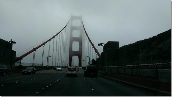 golden gate bridge foggy day 800x450 thumb Santa Rosa Marathon Results and Race Recap