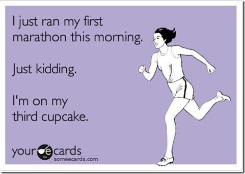 marathons and cupcakes