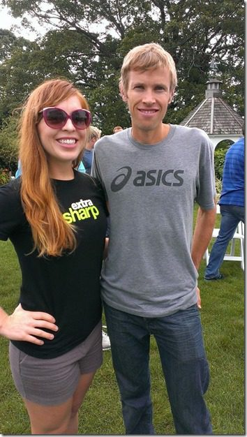 monica meets ryan hall thumb Meeting the BEST Runners in the USA–Beach to Beacon Press Conference