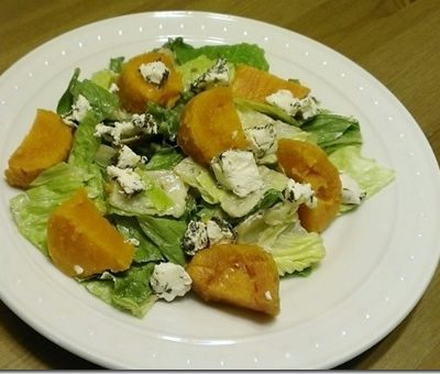 Roasted Sweet Potato and Goat Cheese Salad