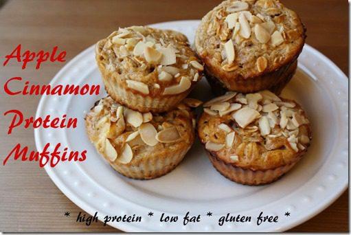 apple cinnamon protein muffins recipe
