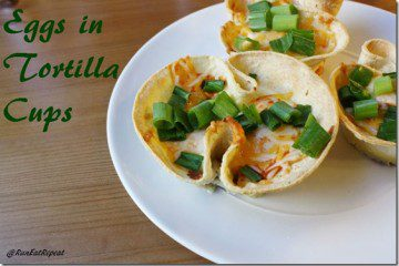 Eggs in Corn Tortilla Cups Recipe