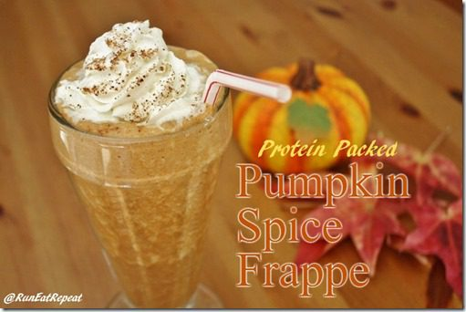 pumpkin spice frap recipe with protein thumb Protein Packed Pumpkin Spice Frap Recipe