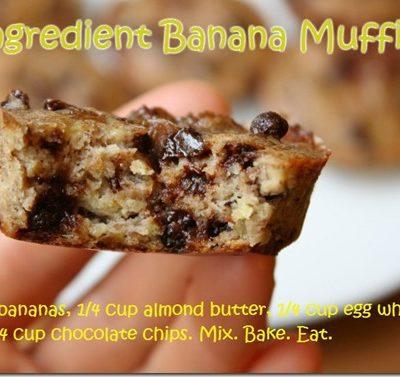 3 Ingredient Banana Muffins Recipe