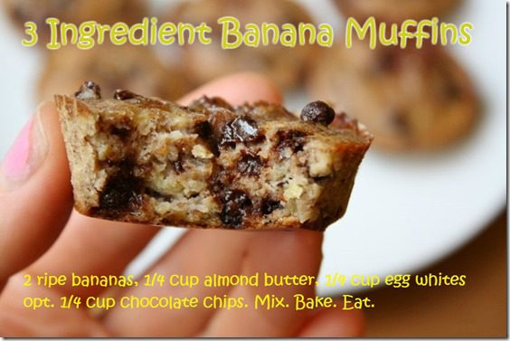 3 ingredient banana muffins thumb 3 Ingredient Banana Muffins Recipe