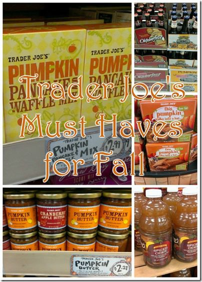 Trader joes must haves for fall shopping list