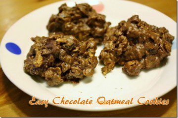 Chocolate PB Oatmeal Cookies Recipe