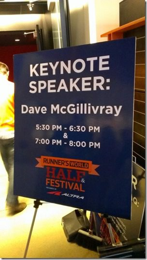 dave mcgillivray talk 450x800 thumb Runner's World Half Marathon Race Recap