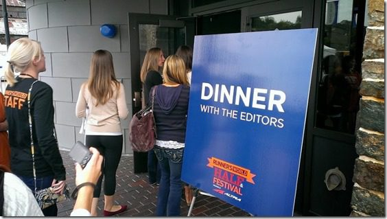 dinner with the editors 800x450 thumb Runner's World Half Marathon Race Recap