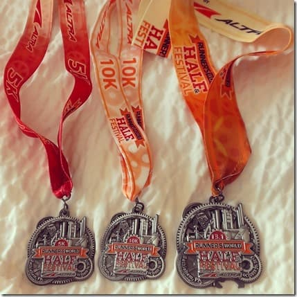 hat trick medals results 800x800 thumb Runner's World Half Marathon Race Recap