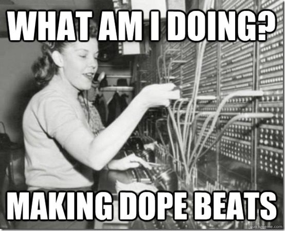i'm making dope beats