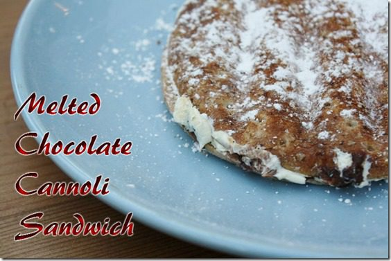 melted chocolate cannoli sandwich recipe