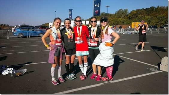 post half marathon with running bloggers 800x450 thumb Runner's World Half Marathon Race Recap