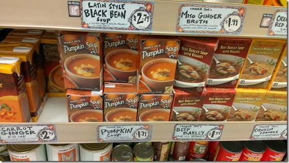 pumpkin soup tjs must haves 800x450 thumb Trader Joe's Must Haves for Fall