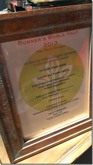 runners world cook book dinner 287x510 thumb Runner's World Half Marathon Race Recap