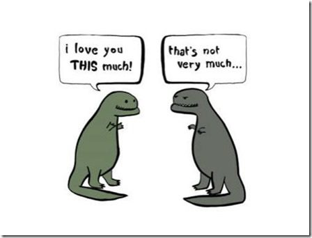 t rex loves you a little bit