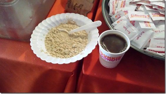 dunkin donuts before marathon