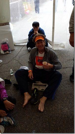 tent before new york city marathon