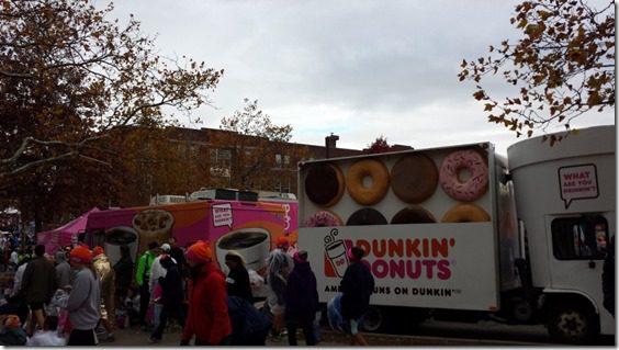 dunkin donuts at the new york city marathon
