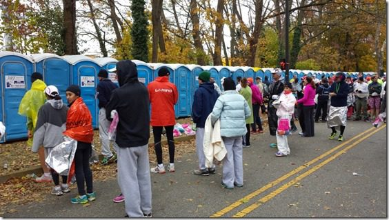 new york city marathon corral line up