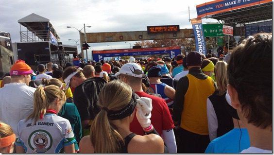New York City Marathon start line