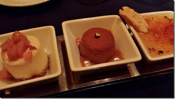 The Wave in the Contemporary Hotel dessert flight