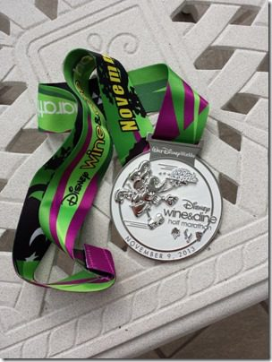 disney half marathon medal wine and dine