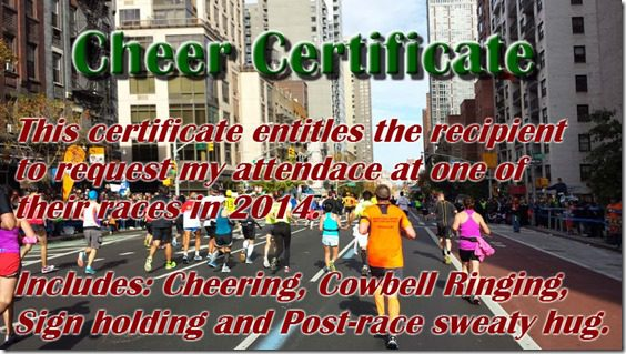 cheer certificate for runners