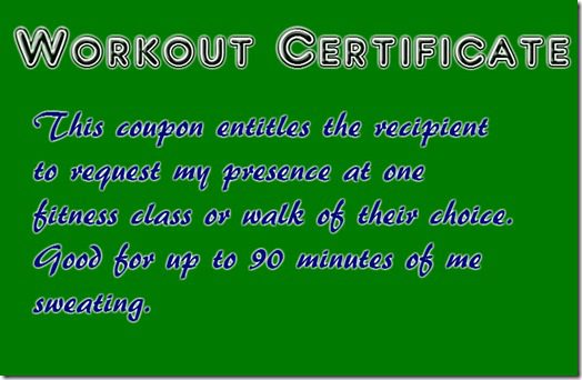 workout certificate