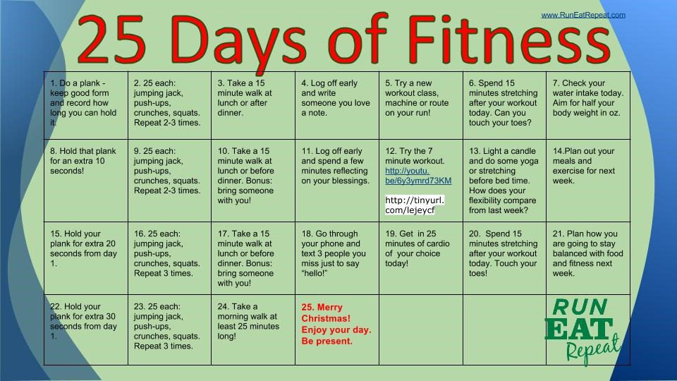 25 days of fitness challenge day one plank