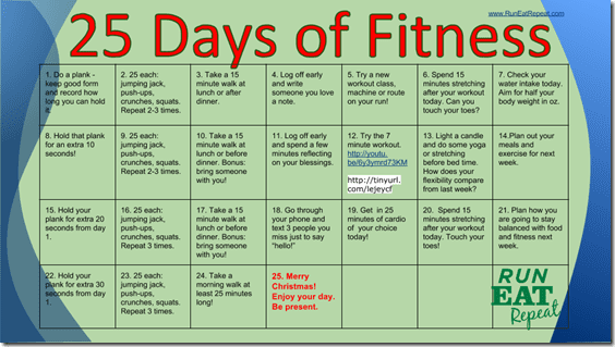 25 Days of Fitness with RunEatRepeat