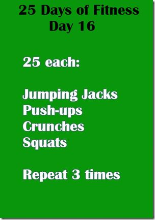 25 days of fitness day 16