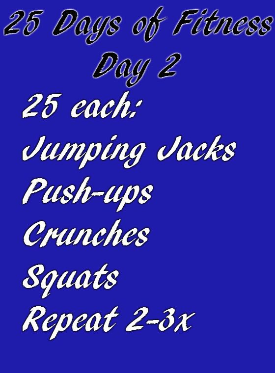 25 Days of Fitness Day 2