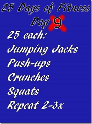 25 days of fitness day 9