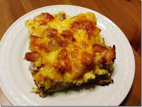cheesy egg and ham breakfast casserole 668x501 thumb Cheesy Egg and Ham Breakfast Bake