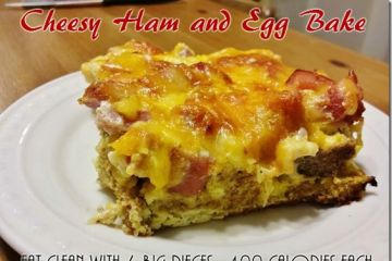 Cheesy Egg and Ham Breakfast Bake